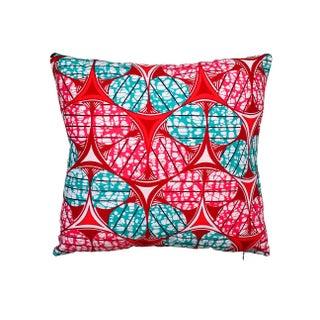 Kaleidoscope Pink African Wax Pillows - A Pair