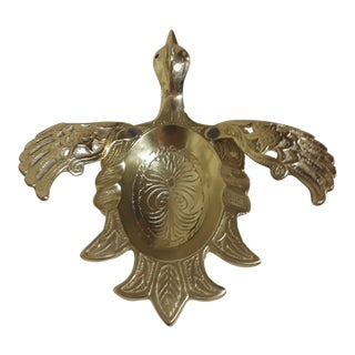 Wainberg Vintage Flying Bird Solid Brass Ashtray