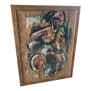 Vintage Abstract Nude Painting