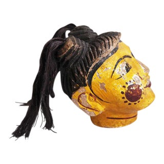 Wood Carved Burmese Puppet Head