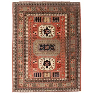 """Antique Romanian Persian Style Rug - 8'11"""" x 11'9"""""""
