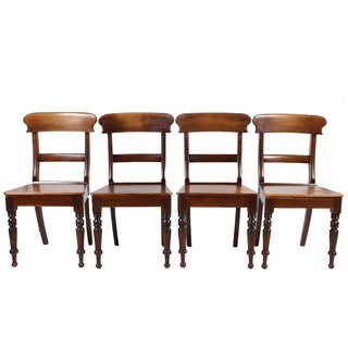 English Regency-Style Chairs - Set of 4