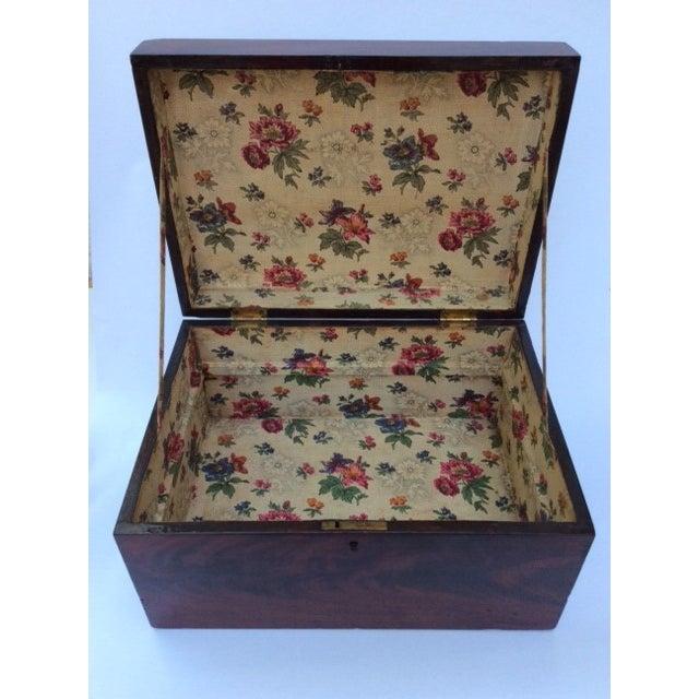Image of Antique Mahogany Sewing Box