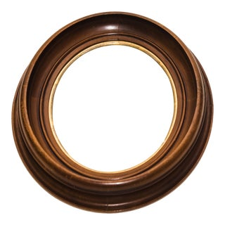 Antique Wood Oval Frame
