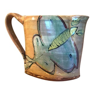 Hand Thrown Butterfly Earthenware Pottery Pitcher