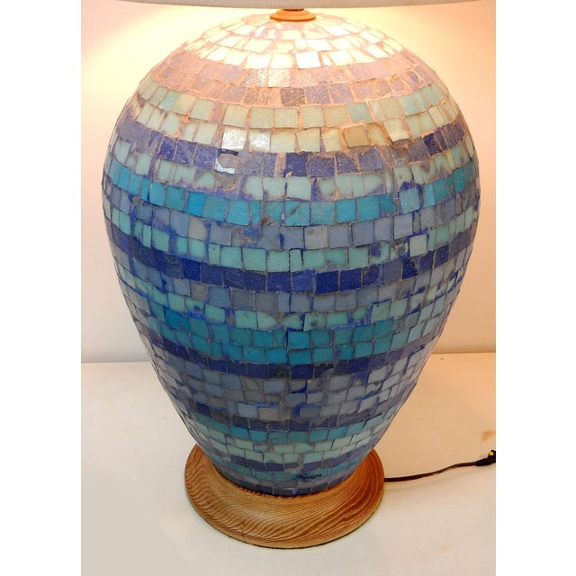 Mid Century Mosaic Table Lamp by Fisher - Image 3 of 8