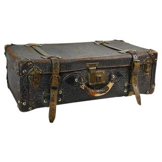 Vintage European Leather Suitcase