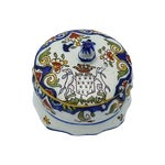 Image of French Faience Crested Trinket Box