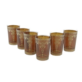 Morjana Brown Tea Glasses - Set of 6
