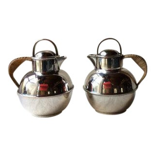 Vintage Silver Plated Pitchers - A Pair