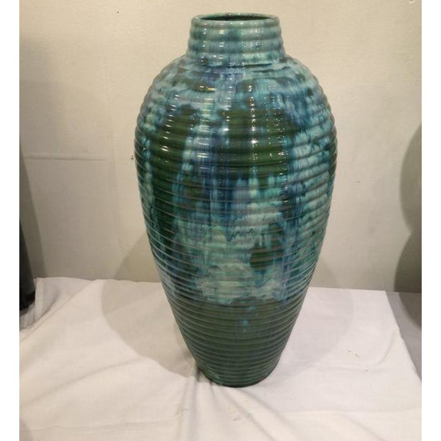 Modern Blue and Green Glazed Vase - Image 2 of 5