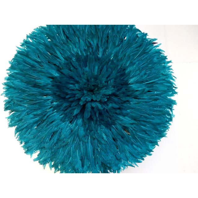 Ceremonial Turquoise Juju Hat Wall Hanging - Image 5 of 7