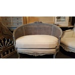 Image of Antique Double Caned French Settee