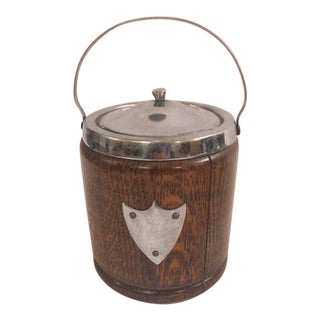 English Wooden Biscuit Jar