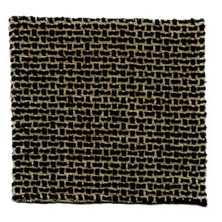 Glant Natura Black & Tan Lattice Chenille Fabric- 4 Yds