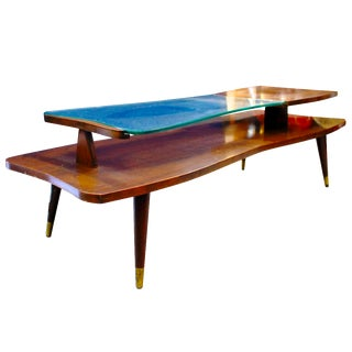 Mid-Century 2-Tier Coffee Table