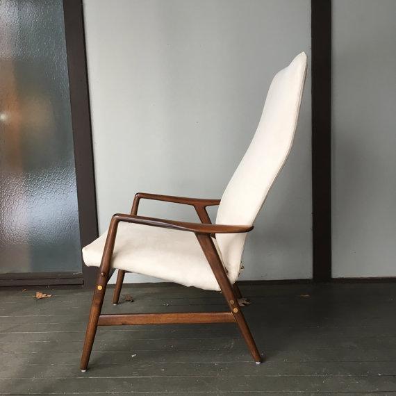 Alf Svensson Danish Reclining Lounge Chair & Ottoman - Image 3 of 7