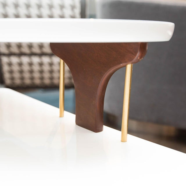 Vintage Lacquered Two-Tiered Corner Table - Image 6 of 8