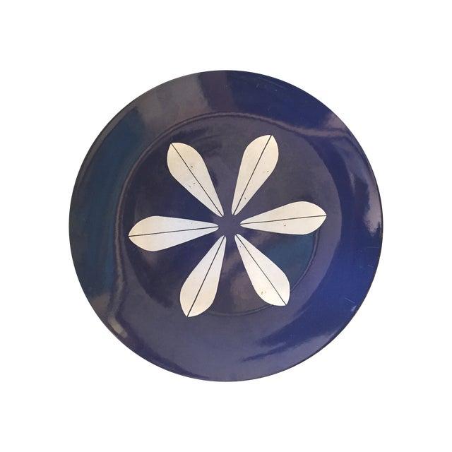 Catheineholm Blue Lotus Plates - Pair - Image 1 of 8