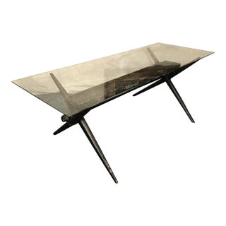 Vintage Counter Balance Coffee Table With Planter
