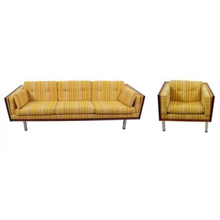 Jydsk Danish Modern Rosewood Case Sofa & Chair
