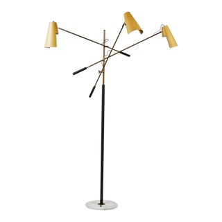Rare Three-Arm Floor Lamp by Stilnovo
