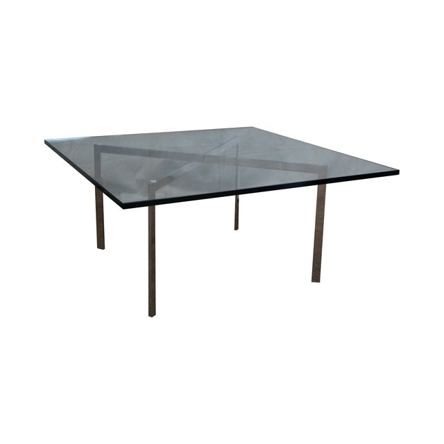 Knoll chrome van der rohe barcelona coffee table chairish - Barcelona table knoll ...