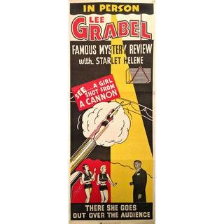 Vintage Original Lee Grabel Magician Poster