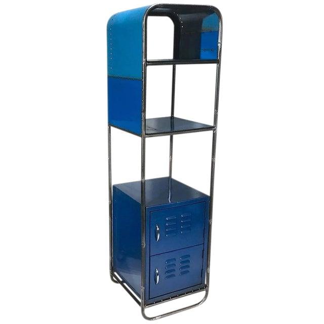 Blue Reclaimed Steel Shelf - Image 1 of 2