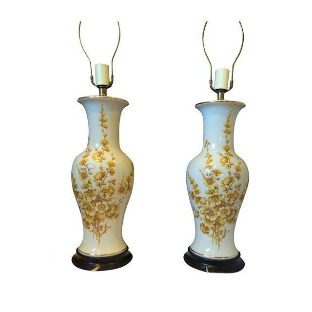 Image of Balustrade Chinese Vase Lamps Paul Hanson - Pair