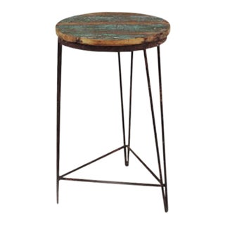 Reclaimed Wood & Iron Stool