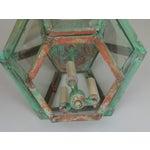 Image of Hexagon Shabby Chic Hanging Copper Lantern
