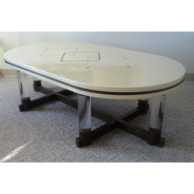 Bronze & Lucite Coffee Table
