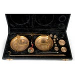 Image of Brass Jeweler's Scale - Set of 13