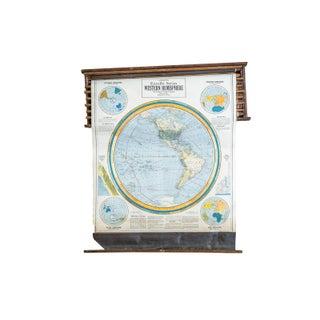 Crams 1938 Pull Down Western Hemisphere Map