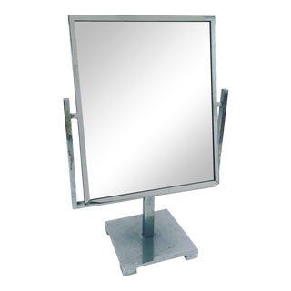 Art Deco Double Sided Chrome Vanity Mirror
