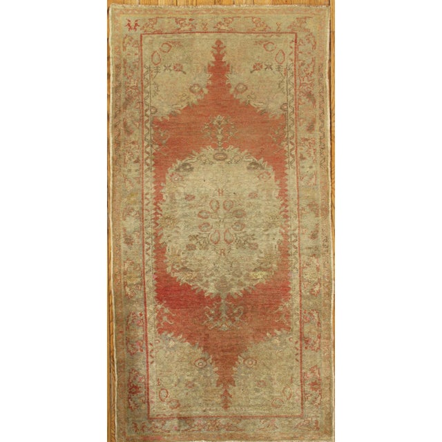 "Vintage Turkish Oushak Rug - 3'2"" x 6'4"" - Image 2 of 3"