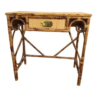Vintage Bamboo Writing Desk