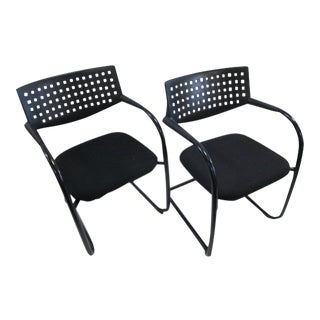 Vitra Visasoft Visavis 2 Black Chairs - A Pair