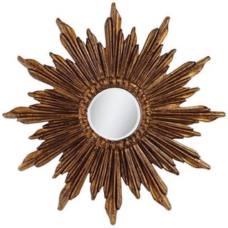 Dark Gold Sunburst Wall Mirror