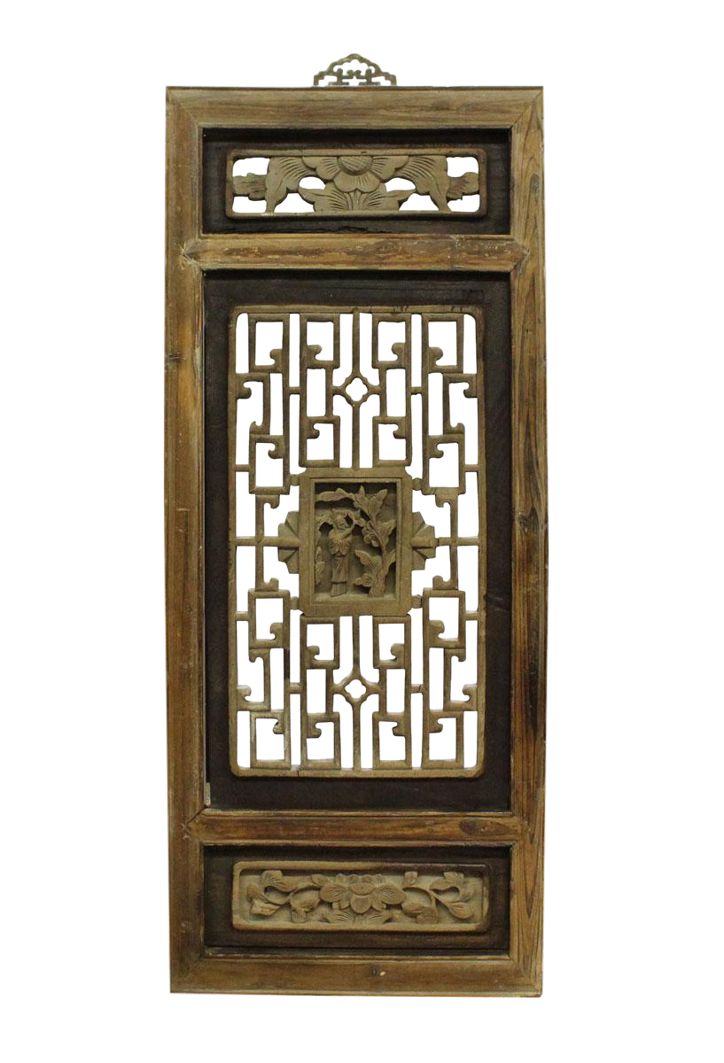 Wood Wall Hanging Art Part - 19: Chinese Vintage Restored Wood Wall Hanging Art Cs2676