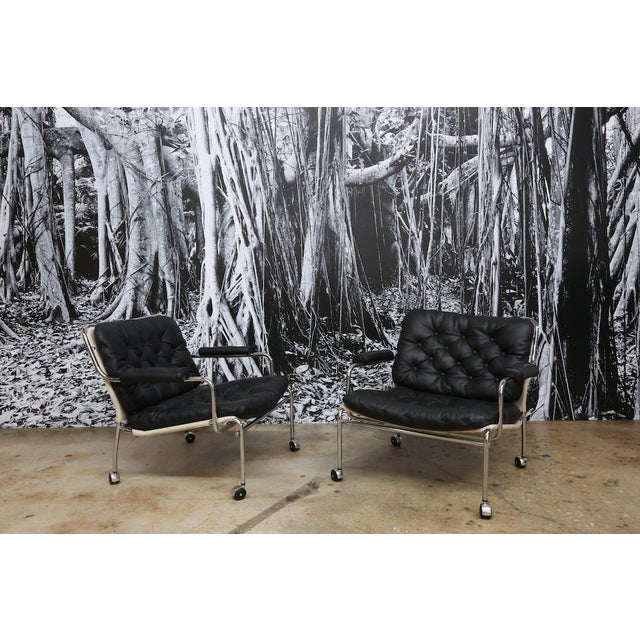 Pethrus Lindlöf Eva Lounge Chairs - A Pair - Image 3 of 7