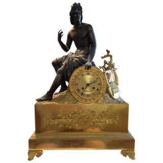 French Charles X Figural Mantel Clock
