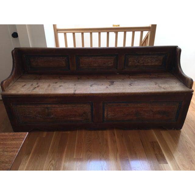Antique Wooden Storage Bench - Image 2 of 8
