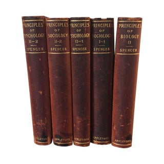 Antique Leather Books, 1897 - Set of 5