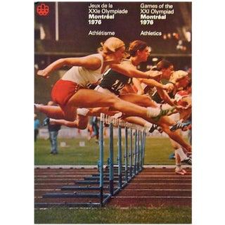 1976 Montreal Olympics Athletics Poster