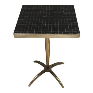 Tile Mosaic & Metal Base Side Table
