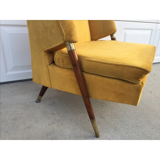 Mid Century Yellow Floating Lounge Chair - Image 7 of 11