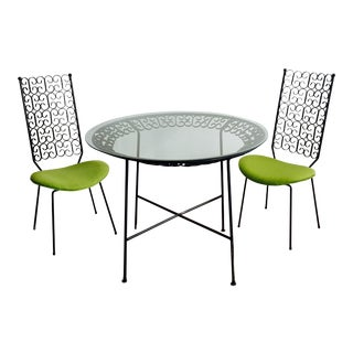 Arthur Umanoff Grenada Wrought Iron Patio Set