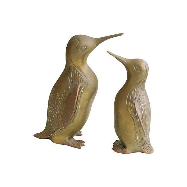 Vintage 1950s Mid-Century Brass Penguins - A Pair - Image 3 of 4